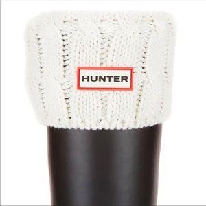 New HUNTER Original Cream Stitch Cable Knit Boot Socks Hunter Original Short M